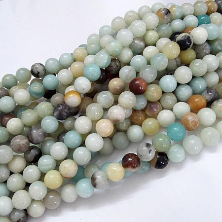 Natural Amazonite Beads Strands G-G692-01-8mm-1