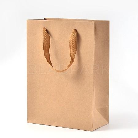Rectangle Kraft Paper Pouches Gift Shopping BagsAJEW-L048B-02-1