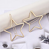 Alloy Hollow Geometric Hair Pin PHAR-N005-014G-5