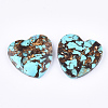 Assembled Natural Bronzite and Synthetic Turquoise PendantsG-S329-070-2