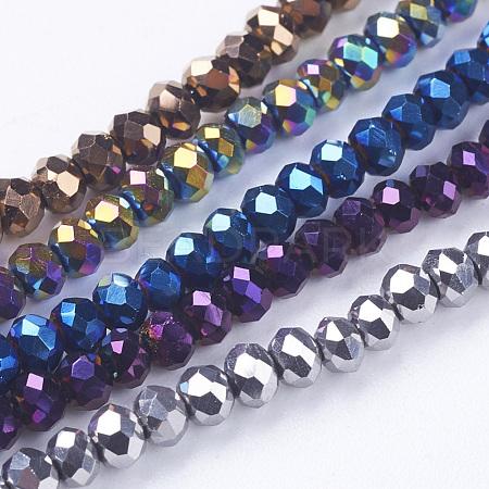 Electroplate Glass Beads StrandsEGLA-J025-FM1-1