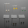 Transparent Acrylic Earring Display StandsEDIS-WH0007-01-4