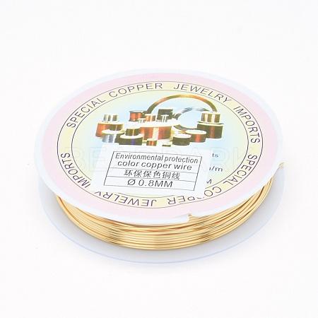 Eco-Friendly Copper Jewelry WireX-CWIR-P001-01-0.8mm-1