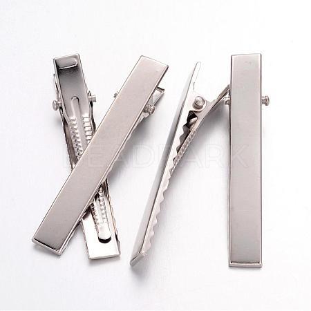Iron Flat Alligator Hair Clip FindingsIFIN-S286-57mm-1