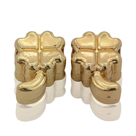 Nickel Free & Lead Free Golden Alloy European BeadsPALLOY-J218-049G-1