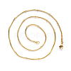 304 Stainless Steel Round Snake Chain Necklace MakingNJEW-S420-009A-G-2