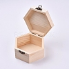Unfinished Pine Wood Jewelry BoxCON-WH0072-08-2