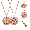 SUNNYCLUE® 304 Stainless Steel Pendant Necklaces NJEW-SC0001-01RG-2
