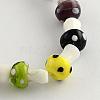 Mushroom Handmade Lampwork Beads StrandsX-LAMP-R116-03-1