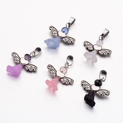 Glass Beads PendantsX-PALLOY-JF00255-1