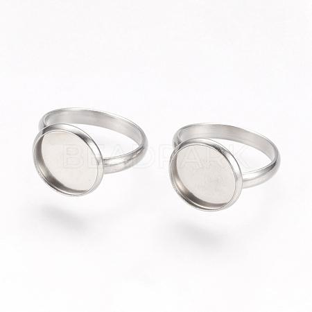 Adjustable 304 Stainless Steel Finger Rings ComponentsSTAS-E144-026-12mm-1