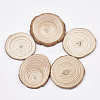 Undyed Wooden Cabochons X-WOOD-T011-25-1