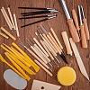 BENECREAT 40pcs/Set Ceramic Pottery Clay Model Home Craft ArtTOOL-BC0007-02-2