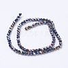 Faceted Round AB Color Electroplate Glass Beads Strands X-EGLA-J042-4mm-AB01-3