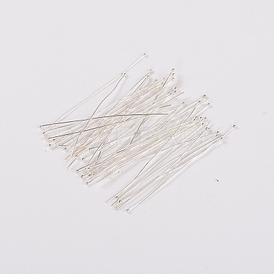 Silver Plated DIY Jewelry Brass Ball Head Pins for Most Unique Necklace DesignX-RP0.5X50mm-S-1