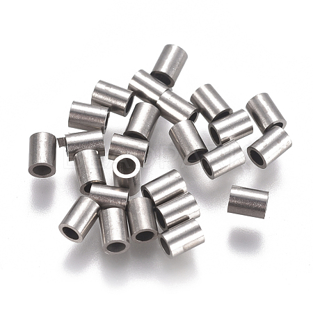 304 Stainless Steel Tube Beads STAS-F224-01P-A-1