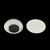 Black & White Plastic Wiggle Googly Eyes Buttons DIY Scrapbooking Crafts Toy Accessories with Label Paster on BackKY-S002B-15mm-2