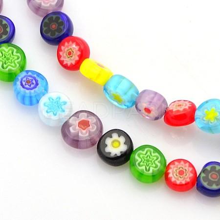 Handmade Millefiori Glass BeadsX-LAMP-J033-6mm-M-1