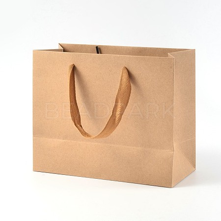 Rectangle Kraft Paper Pouches Gift Shopping Bags AJEW-L047B-01-1