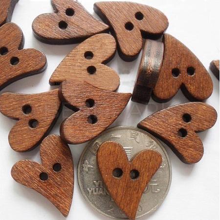 Heart Shaped Paint Buttons NNA1136-1
