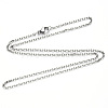 304 Stainless Steel Cable Chain Necklace Making NJEW-S420-008A-P-3