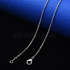 304 Stainless Steel Cable Chain Necklace MakingNJEW-S420-008C-P-4