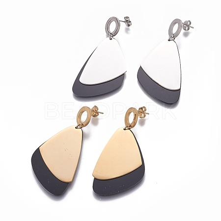 304 Stainless Steel Stud Earrings EJEW-E242-18-1