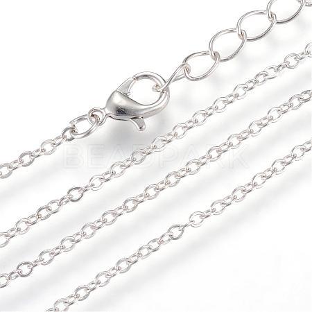 Iron Cable Chains Necklace MakingMAK-R016-45cm-P-1