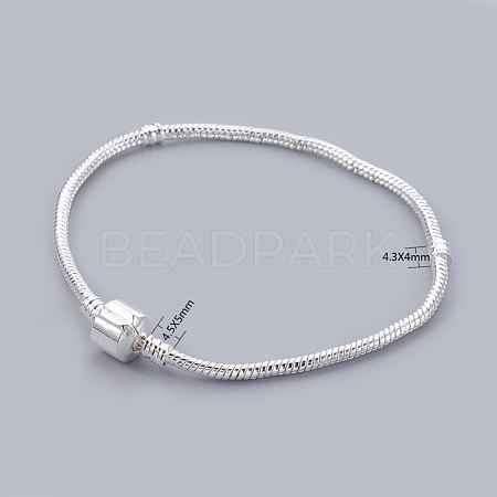 Silver Color Plated European Style European Style Bracelet Making X-PPJ024-S-1
