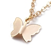Brass Butterfly Charm AnkletsX-AJEW-AN00281-01-3