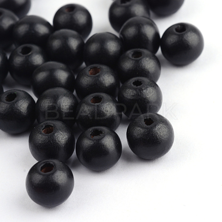 Dyed Natural Wood BeadsX-WOOD-S662-7x8mm-06-1