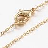 Brass Chain Necklaces MakingX-MAK-L009-03G-1