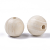 Natural Unfinished Wood Beads WOOD-S651-A30mm-LF-2