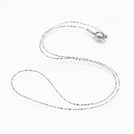 304 Stainless Steel Chain Necklaces NJEW-F248-06A-P-1