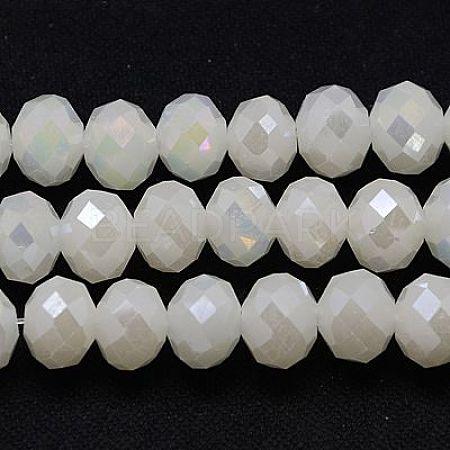 Electroplate Glass Bead StrandsX-GLAA-F001-8x6mm-30L-1