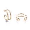 Brass Cuff EarringsEJEW-I249-16G-2