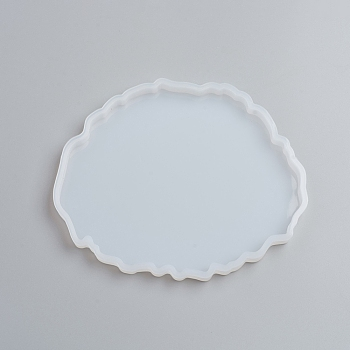 Silicone Cup Mat Molds, Resin Casting Molds, For UV Resin, Epoxy Resin Jewelry Making, Nuggets, Clear, 115x136x7mm; Inner Size: 105x127mm