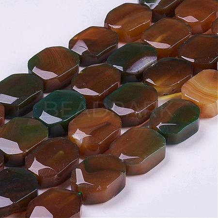 Natural Agate Beads Strands G-G693-B10-1