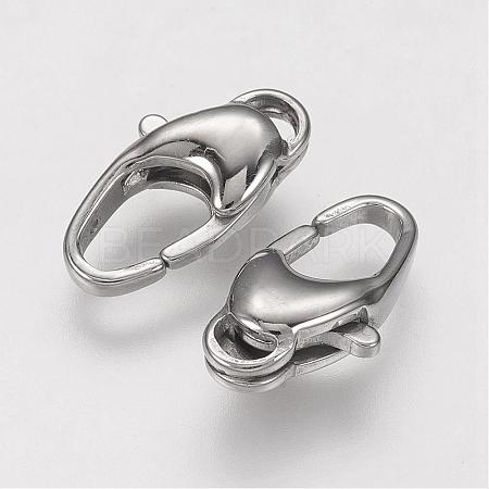 304 Stainless Steel Lobster Claw ClaspsSTAS-F109-01P-1