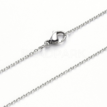 304 Stainless Steel Cable Chain Necklace MakingNJEW-S420-008C-P-1