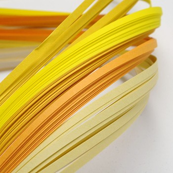 6 Colors Quilling Paper Strips, Gradual Yellow, 390x3mm; about 120strips/bag, 20strips/color