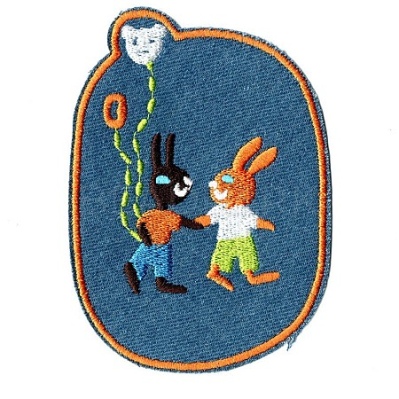 Bunny Computerized Embroidery Cloth Iron on/Sew on PatchesDIY-F034-A17-1