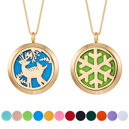 SUNNYCLUE® 304 Stainless Steel Pendant Necklaces NJEW-SC0001-04G-1
