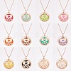 SUNNYCLUE® 304 Stainless Steel Pendant Necklaces NJEW-SC0001-01RG-6
