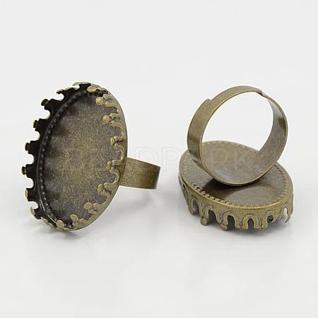 Brass Pad Ring BlankX-KK-B807-AB-1