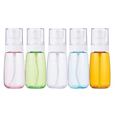 BENECREAT 60ml Transparent PETG Plastic Spray Bottle SetsMRMJ-BC0001-76-1