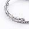 Fashion 304 Stainless Steel European BraceletsBJEW-L622-02-3