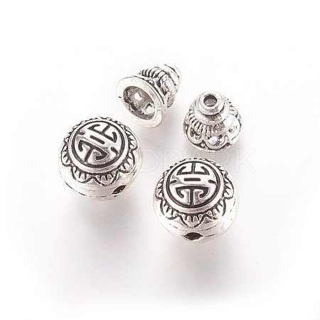 Tibetan Silver Guru Bead SetsX-PALLOY-N0063-05AS-1