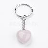 Natural Rose Quartz KeychainKEYC-F019-02J-2