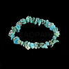 Natural Turquoise Chips Stretch BraceletsBJEW-BB16534-F-2